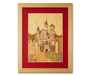 木はり絵「ノイシュヴァンシュタイン城」