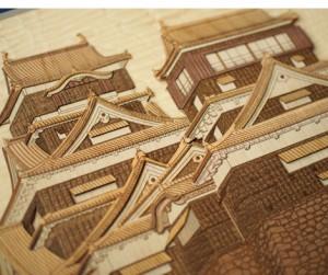 熊本城の木はり絵