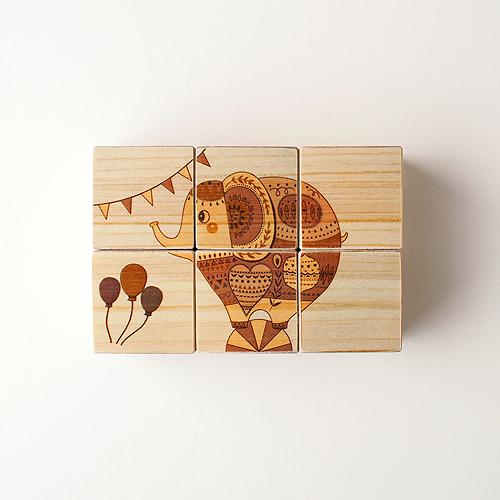 木はり絵六面体パズル(ミラクルサーカス)