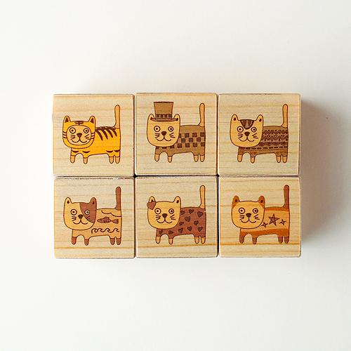 木はり絵六面体パズル(キャットカーニバル)