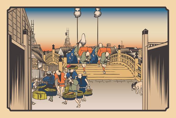 日本橋朝之景
