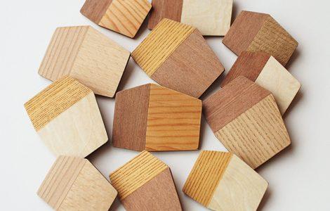 木のブローチ、お好みは?