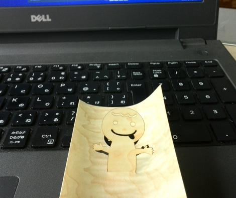 木はり絵ポップアップカード