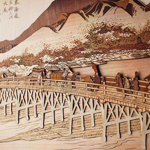 木はり絵「京師 三条大橋」