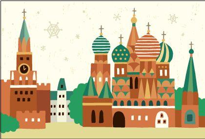 木はり絵「モスクワ」
