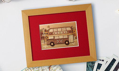 木はり絵「ロンドンバス」リリースしました