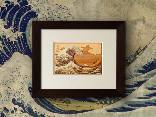 木はり絵「神奈川沖浪裏」
