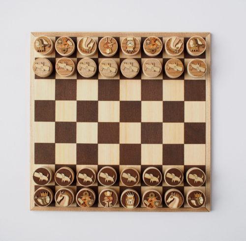 木はり絵チェス