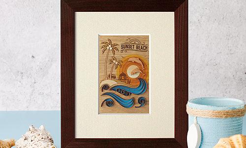 クイリングシリーズ「サンセットビーチ」をリリースしました!