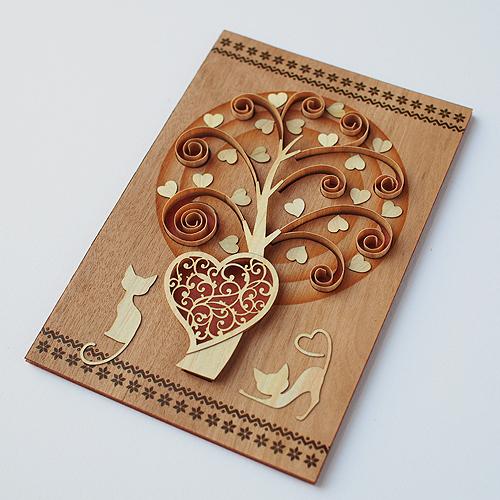 木はり絵‗ハートツリー